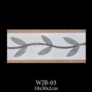 Waterjet Bordür | Afyon Beyaz Mermer