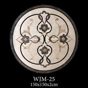 Waterjet Madalyon | Afyon Beyaz Mermer