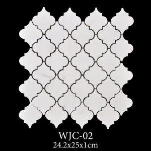 Waterjet Mozaik | Afyon Beyaz Mermer