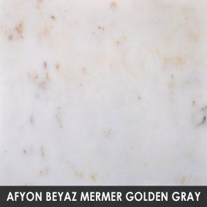 Afyon Beyaz Mermer Golden Gray